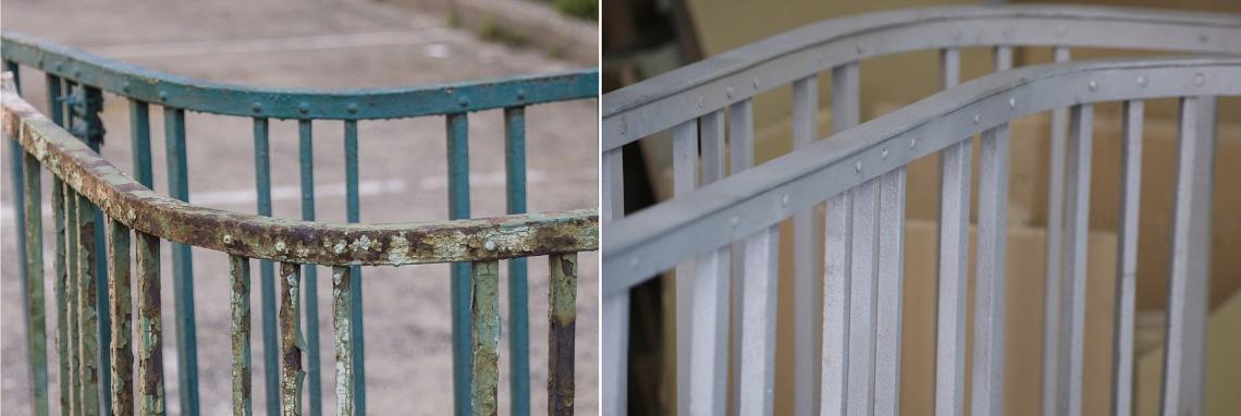 przed i po piaskowaniu - realizacje Elplast
